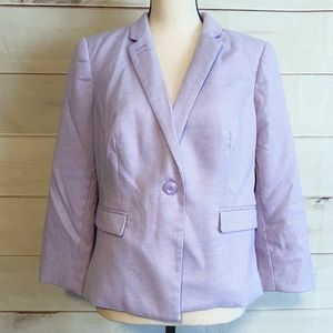 NWT The Limited Purple Single Button Blazer Sz Lg